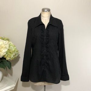 BCBGMaxAzria Women's Black Blouse